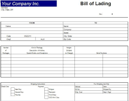 sample bol printable sample bill of lading template form 29457693439 generic
