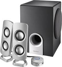 speakers subwoofer. insignia™ - powered computer speakers with subwoofer (3-piece) black/ best buy