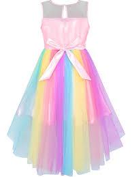 <b>Princess</b> - Sunny Fashion <b>Girls Dress</b> Sequin Mesh Party <b>Wedding</b> ...