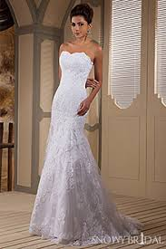 strapless fitted lace wedding dresses snowybridal com
