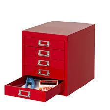 spencer 5 drawer desktop cabinet red