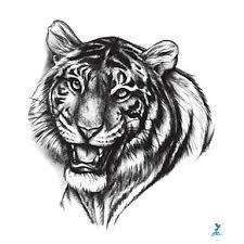 719 Yeeech Tygr černá Dočasné Tetování Samolepky Zvíře Horké Série Vodotěsný Pro Muže