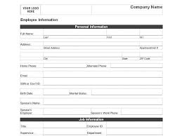 Personal Contact Template Employee Personal Information Form Template