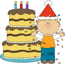 boy birthday clip art. Unique Boy Boy With Birthday Cake And Confetti With Clip Art M