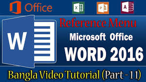 Ms Word 2016 Reference Menu Cross Reference With All Option