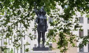 Edward Colston statue replaced by sculpture of Black Lives Matter protester  Jen Reid | Black Lives Matter movement