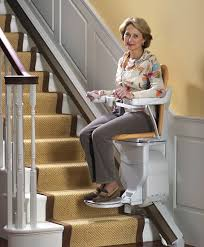Stairlift Stair Lift Interior and Exterior A motorized chair