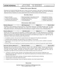 Restaurant Manager Resume Restaurant Manager Resume Objective Free