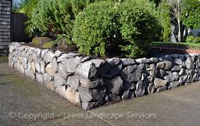 basalt dry stack rock wall