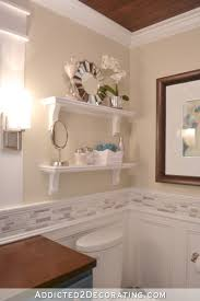 diy bathroom shelve above toilet