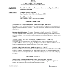 Teacher Assistant Resume No Work Experience Teaching Assistant Resume Experienced Teacher 47