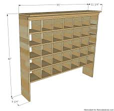 inspired by a vintage mail sorter this diy shoe cubby is the perfect piece of