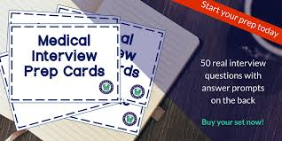 Doctors Interview Questions Medical Interview Prep Cards