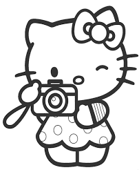 Print free hello kitty coloring sheets and her friends for coloring. Hello Kitty With Camera Coloring Page Topcoloringpages Net