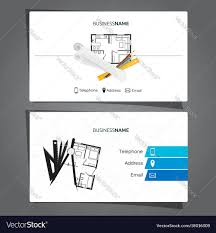 Architecture And Construction Business Card Vector Image