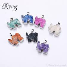 2019 roing natural carved stone pendants charms elephant pendants necklaces diy jewelry making accessories women jewelry gift c003 from blingjewelrymall