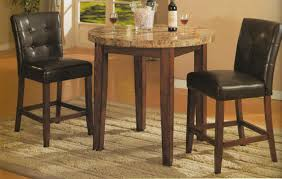 roundhill furniture modern gl dining table round