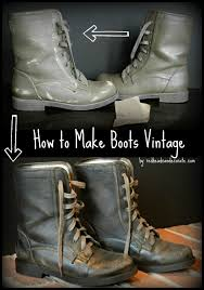 tutorial on how to make boot look vintage