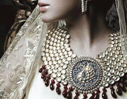 tanishq jewellery 3 necklaces and diamond jewllery image