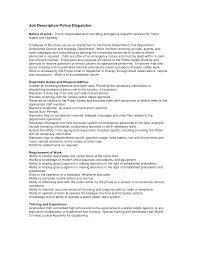 ... Smartness Design Dispatcher Resume 15 Police Cover Letter ...