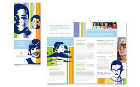 tri fold school brochure template education training tri fold brochure templates