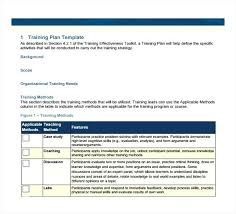 Training Curriculum Template Employee Training Plan Template ...