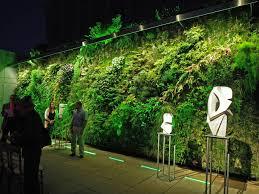 green wall lighting. The Rooftop Living Wall Green Lighting
