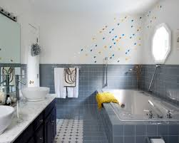 blue bathroom tile ideas: saveemail cdc  w h b p contemporary bathroom