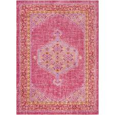 surya germili bright pink  ft x  ft  in indoor area rug