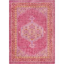 surya germili bright pink 9 ft x 12 ft indoor area rug