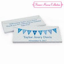 Its A Boy Birth Announcement Personalized Gift Boxes For Chocolate Bars