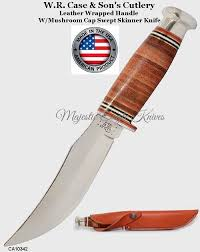 wr case sons cutlery ca10342 fixed blade stacked leather handle hunting knife