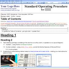 standard operating procedure template word standard operating procedure template microsoft 5 standard operating
