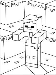 Printable Minecraft Zombies Coloring Pages Holiday Ideas