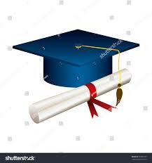 color graduation hat diploma vector illustraction stock vector  color graduation hat diploma vector illustraction design