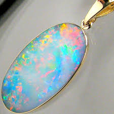 details about 7 2ct 14k gold genuine natural australian opal pendant inlay jewelry gift 855