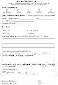 Medical Incident Report Form Idmanado Co