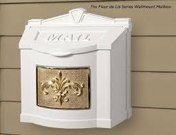 gaines manufacturing fleu de lis series wallmount mailboxes