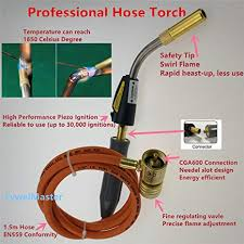 welding with propane torch. Simple With Braze Welding Torch Self Ignition 15m Hose CGA600 Connection Suitable For  Propane MAPP Catridge Cylinder On With P
