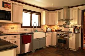 Kitchen Cabinets With Windows Ideas For Kitchens With No Windows Glass Access Door Storage