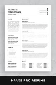 Professional Resume Template Set With One Page And Two Page