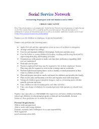 Agreeable Nanny Resume Job Description In Sample Nanny Resume