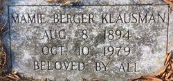 Mamie Berger Klausman (1894-1979) - Find A Grave Memorial