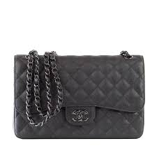 CHANEL Bag Quilted So Black Jumbo Classic Double Flap Calfskin ... & CHANEL Bag Quilted So Black Jumbo Classic Double Flap Calfskin Limited  Edition 1 Adamdwight.com