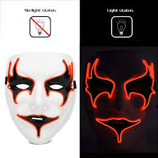 Mask <b>Fashion Led</b> Party <b>Halloween Neon</b> Luminous Wire Glowing ...