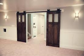 interior sliding barn doors with glass panels