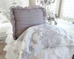 lightly ruched for texture with 2 rows of ruffles for a cottage touch brand new and the pillow insert is included