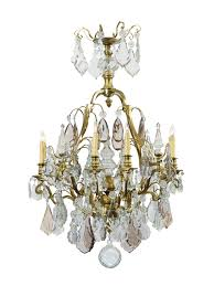 louis xv style gilt bronze cut crystal chandelier with eight lights france ca 1850 william word fine antiques