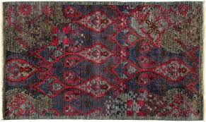 area rugs one of a kind suzani hand knotted multicolor area rug