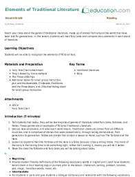 Elements Of A Fairy Tale Fairy Tales Identifying Story Elements Lesson Plan Education